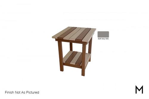 Outdoor End Table in Dark Grey