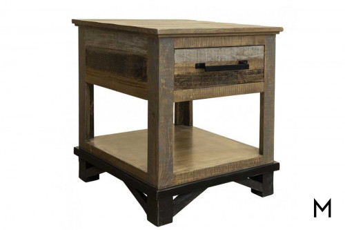 Loft End Table with Drawer