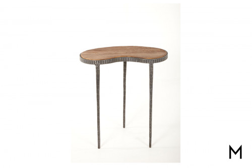 Kidney Accent Table in Reclaimed Elm