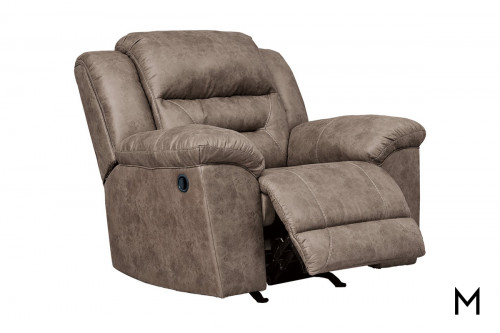 Stoneland Recliner in Fossil Brown