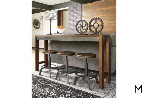 Torjin Counter Height Sofa Table