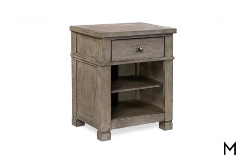 Tucker One Drawer Nightstand with Adjustable Shelves