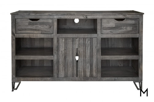 """Weathered Gray 70"""" TV Console"""
