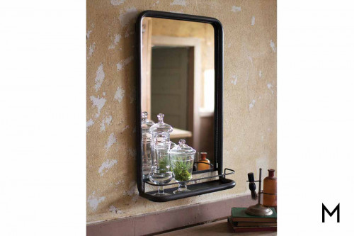 Pharmacy Wall Mirror with Shelf