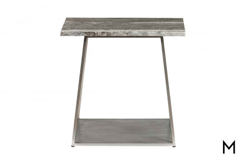 Grayson End Table in Silver