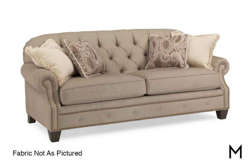 Champion Tufted Sofa in Linen