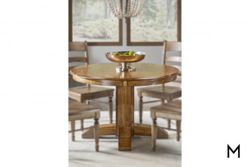 Bennet Round Dining Table with Pedestal Base