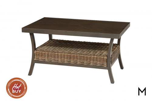 M Collection Trenton Patio Cocktail Table