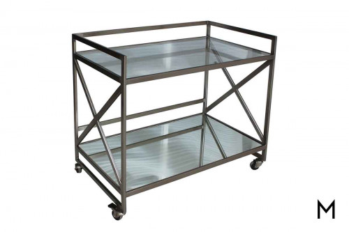 Combs Bar Cart in Nickel