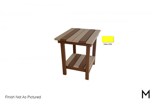 Outdoor End Table in Yellow