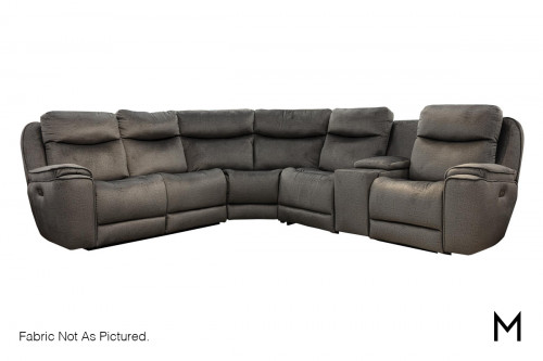 M Collection Showstopper Power Reclining 6 Piece Sectional with Chaise