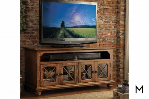 """Riverside 60"""" TV Console in Oak"""
