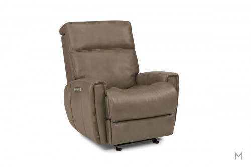 Lyric Leather Power Gliding Recliner with Power Headrest and Power Recline