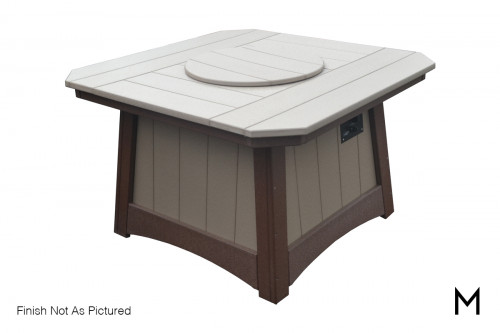 Outdoor Fire Table with Glass Accents