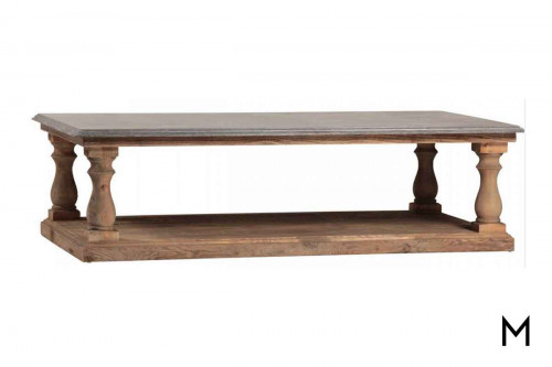 Palermo Coffee Table with Blue Stone Top
