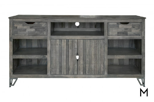"""Weathered Gray 80"""" TV Console"""