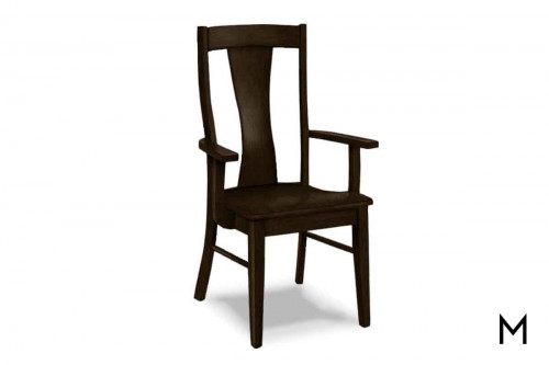 Boone Arm Chair in Dark Chestnut