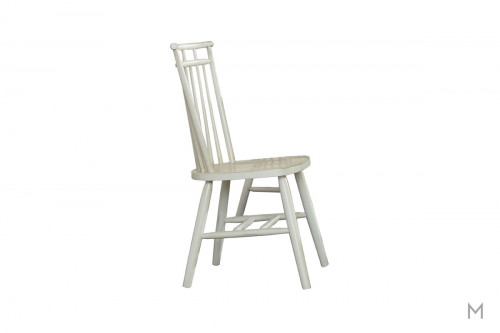 Creations II Wooden Dining Side Chair in White