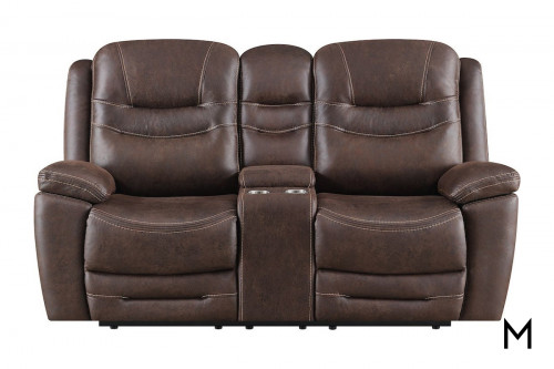 Turismo Power Reclining Loveseat with Center Console
