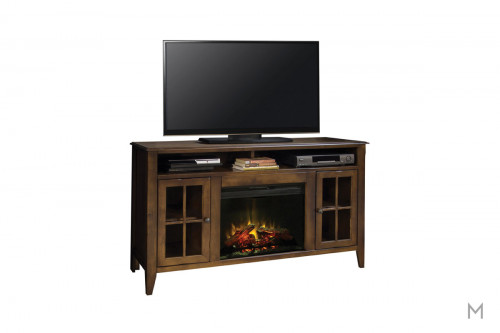 "Brownstone 60"" TV Console with Fireplace"