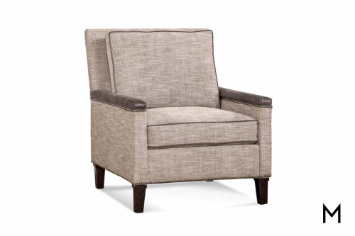 Transitional Contrasting Accent Chair featuring Nailhead Trim