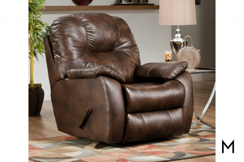 M Collection Leather Rocker Recliner