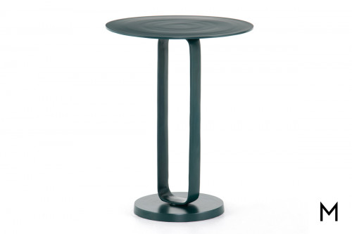 Round Modern Teal End Table