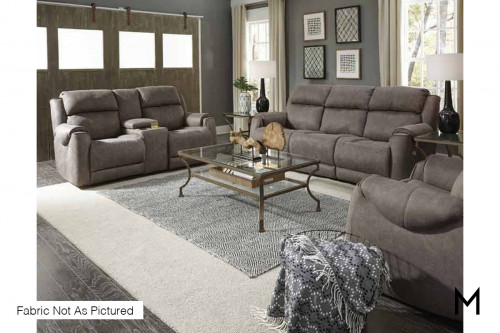 M Collection Safe Bet Power Reclining Sofa with Power Headrests