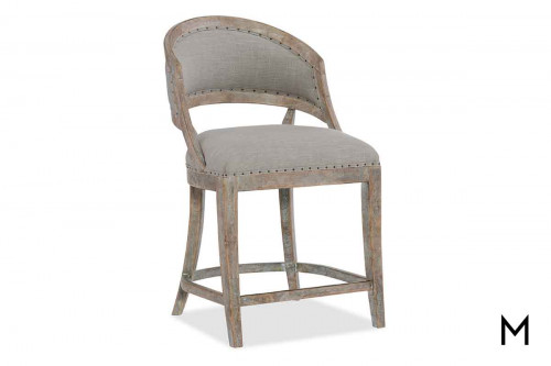 Boheme Barrel Back Counter Stool