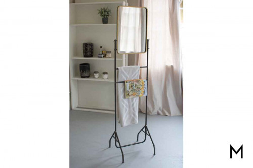 Valet Mirror with Floor Stand