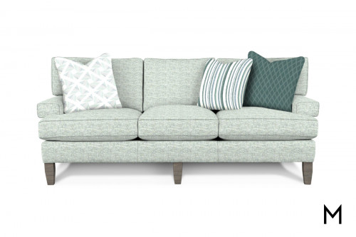 M Collection Modern Sofa with 3 Accent Pillows
