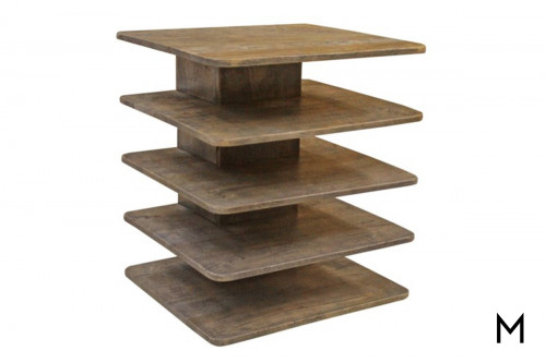 Tiered 4-Shelf End Table