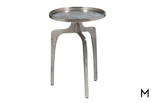Natalie End Table in Silver