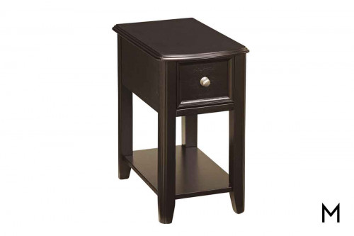 Breegin Chairside Table in Almost Black