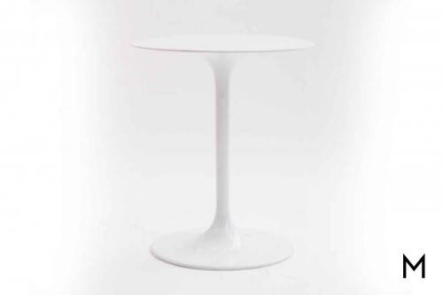 Marlow Tulip Side Table in White