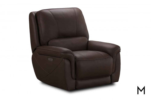 M Collection Montecarlo Recliner in Longhorn Ghost