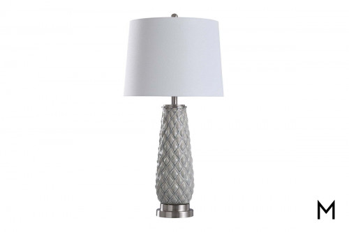 Diamond Patterend Ceramic Table Lamp
