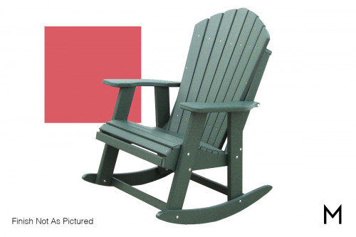 Adirondack Rocker in Red