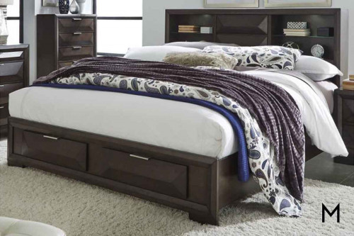 Newland Queen Storage Headboard Bed