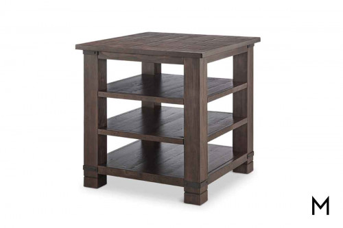Pine Hill Tiered End Table in Rustic Pine