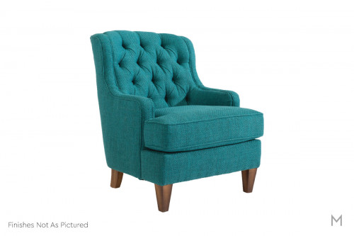 Terrace Tufted Back Accent Chair in Slate