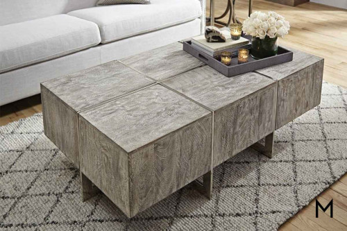 Desmond Rectangular Coffee Table in White