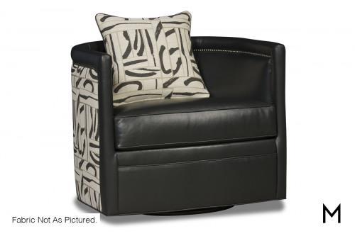 Barrel Swivel Accent Chair