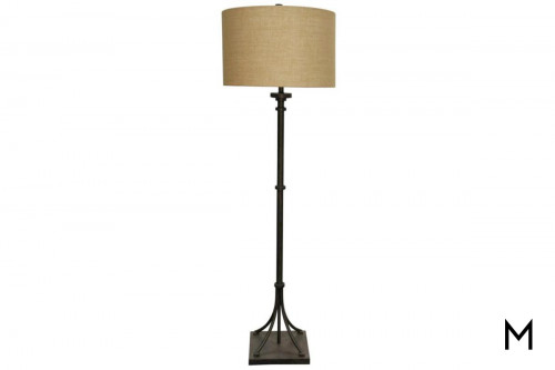Industrial Floor Lamp with Bronze Finish
