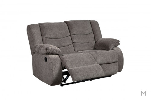 Tulen Reclining Loveseat in Grey
