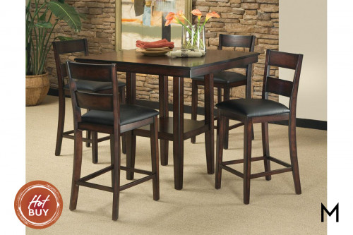 Counter Height 5-Piece Dining Set
