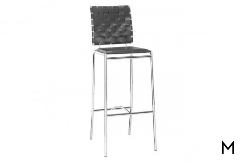 Criss Cross Barstool in Black