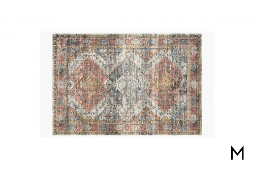 Skye Apricot and Mist Area Rug 5'x8'