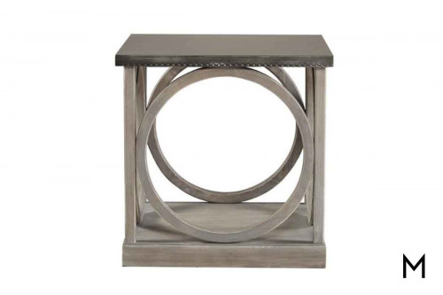 Carlton End Table in Greystone