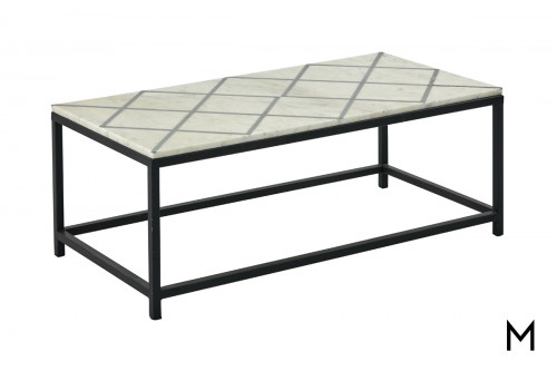 M Collection Marklund Rectangular Cocktail Table